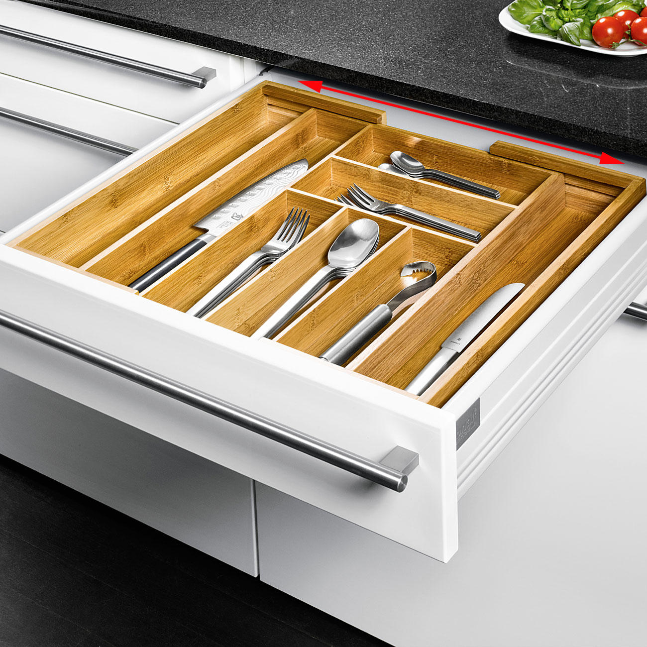 Buy Expandable Bamboo Cutlery Tray online