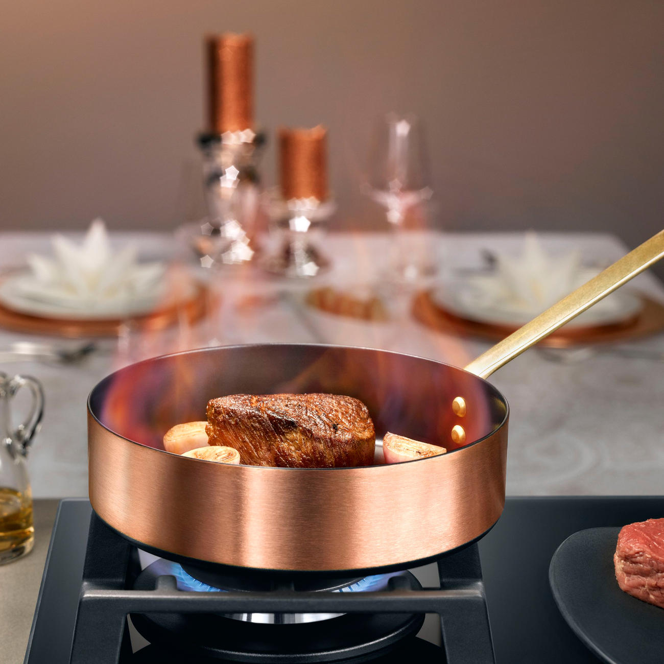 buy induction copper cookware 3 year product guarantee. Black Bedroom Furniture Sets. Home Design Ideas