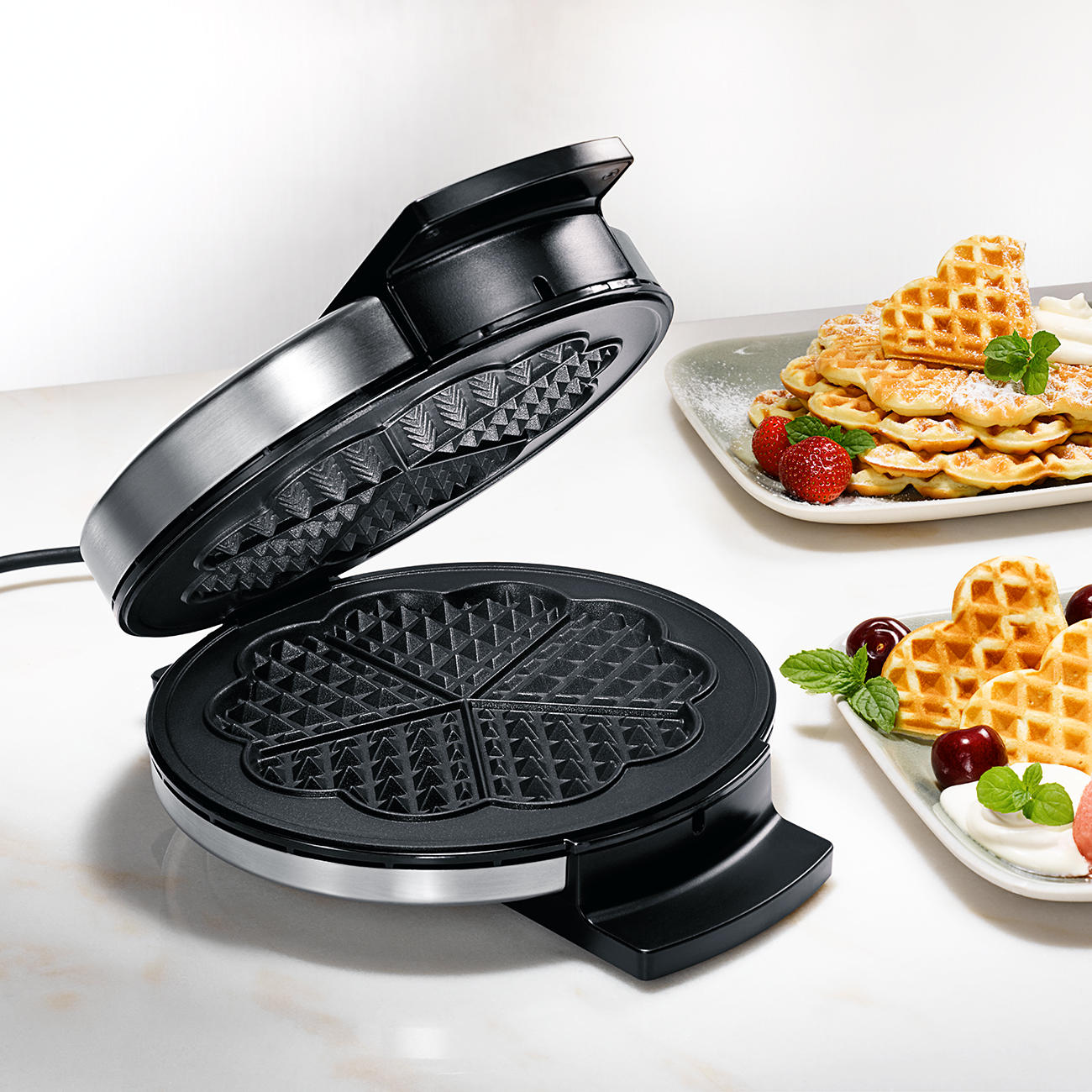 Home Appliances Kitchen Appliances Electric Bakery Equipment Swings Waffle Iron; Waffle Making Machine For Sale Attractive Fashion