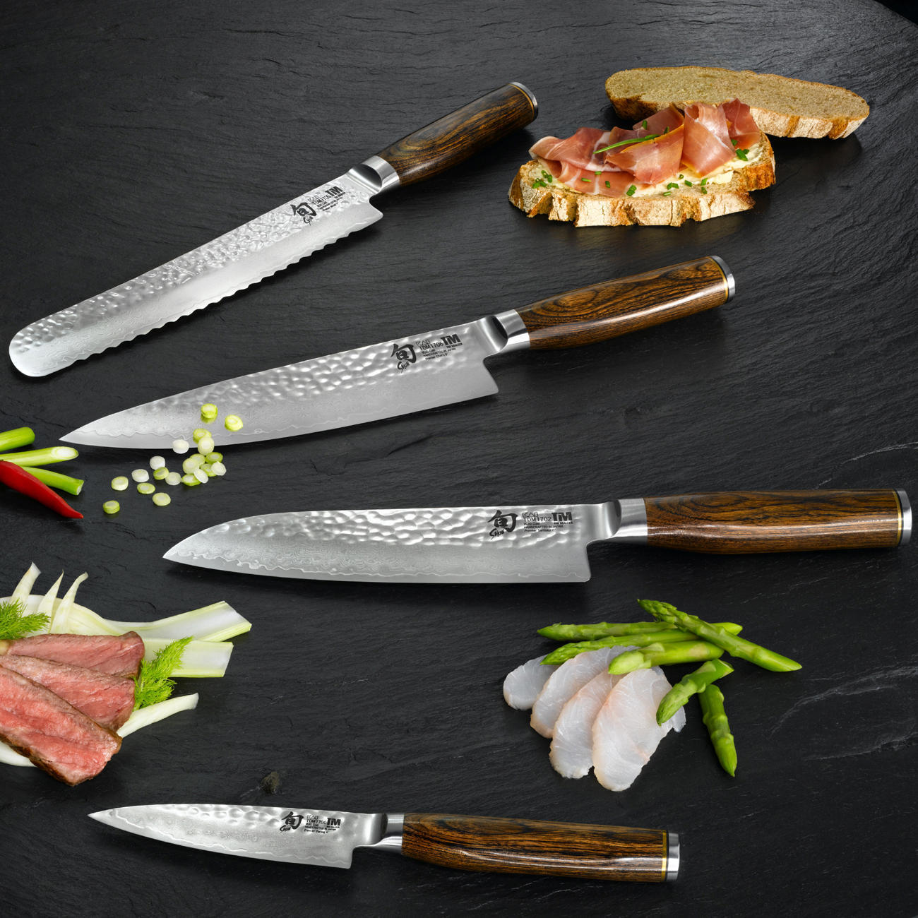 Recommended By The German Celebrity TV Cook Tim Malzer New Damask Steel Knives Series From Traditional Japanese Manufacturer KAI