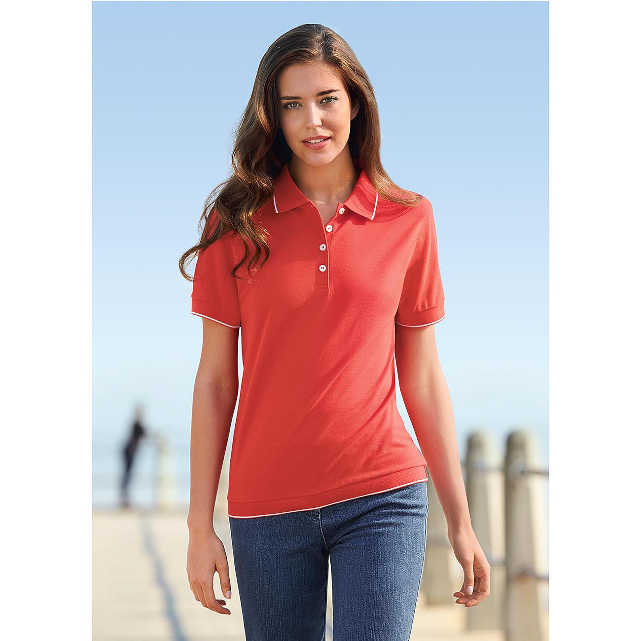 Buy Pima Polo Shirt Ladies 3 Year Product Guarantee