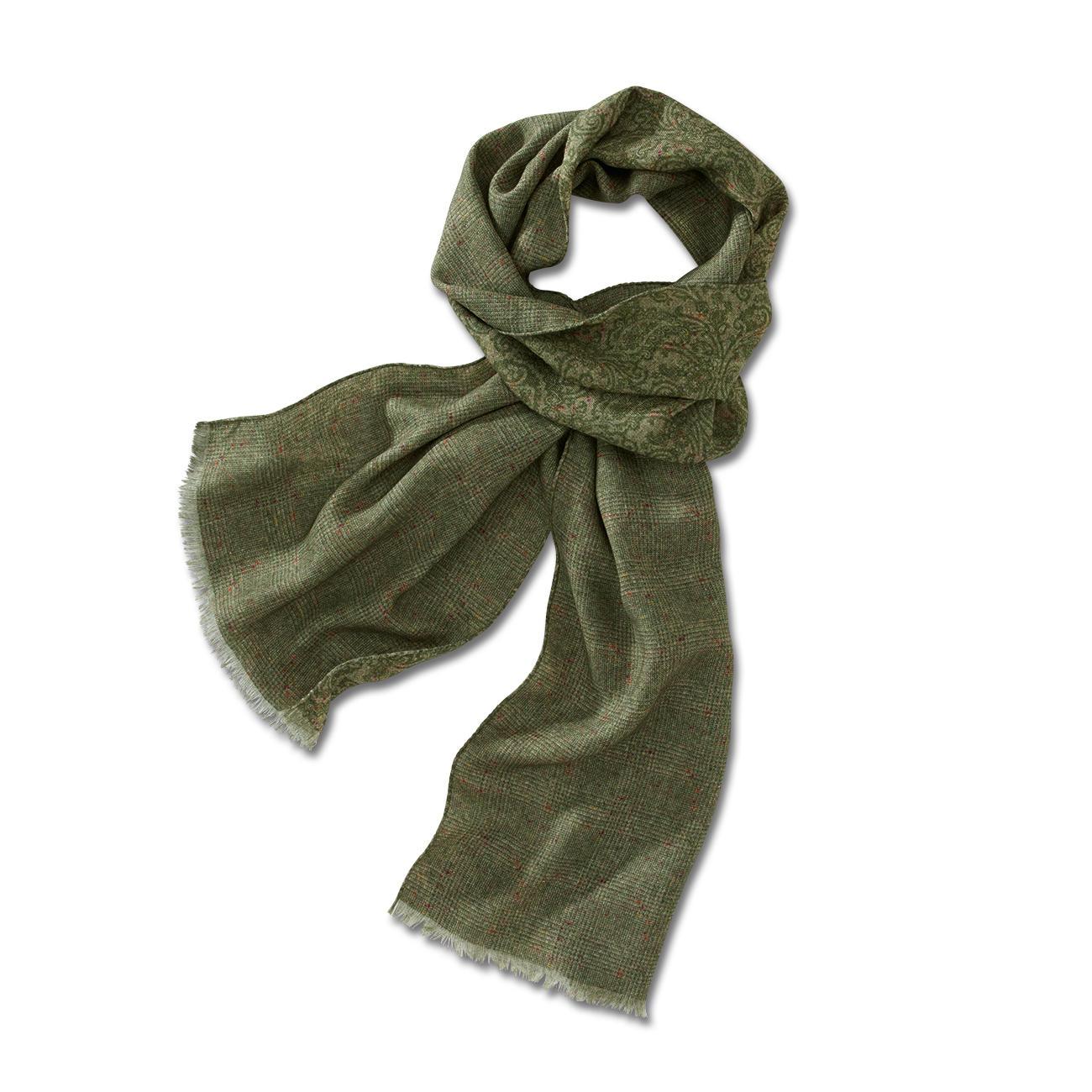 buy ascot print woollen scarf