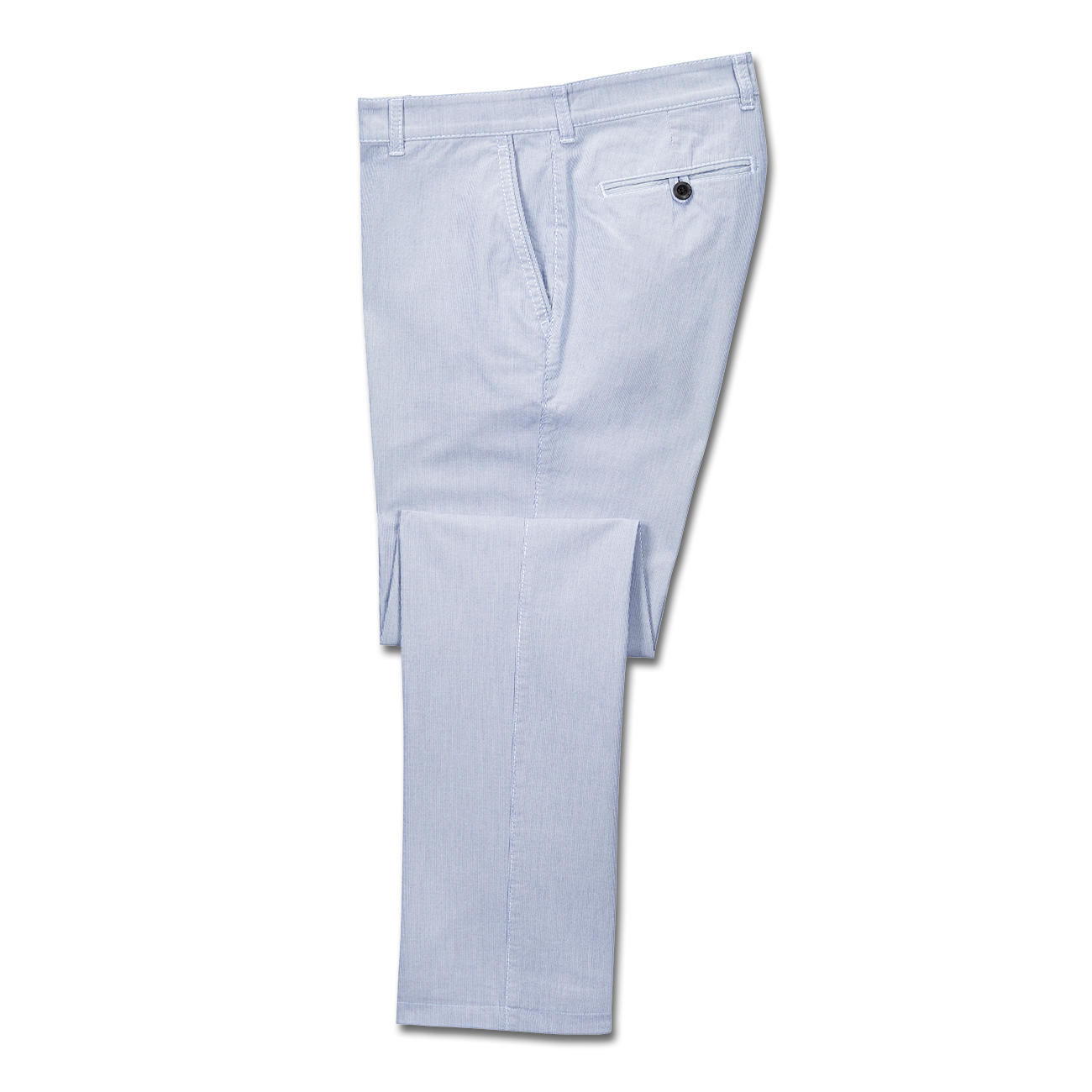 great fit wide varieties buy good Brax Mille-Rayé Trousers, Navy/White