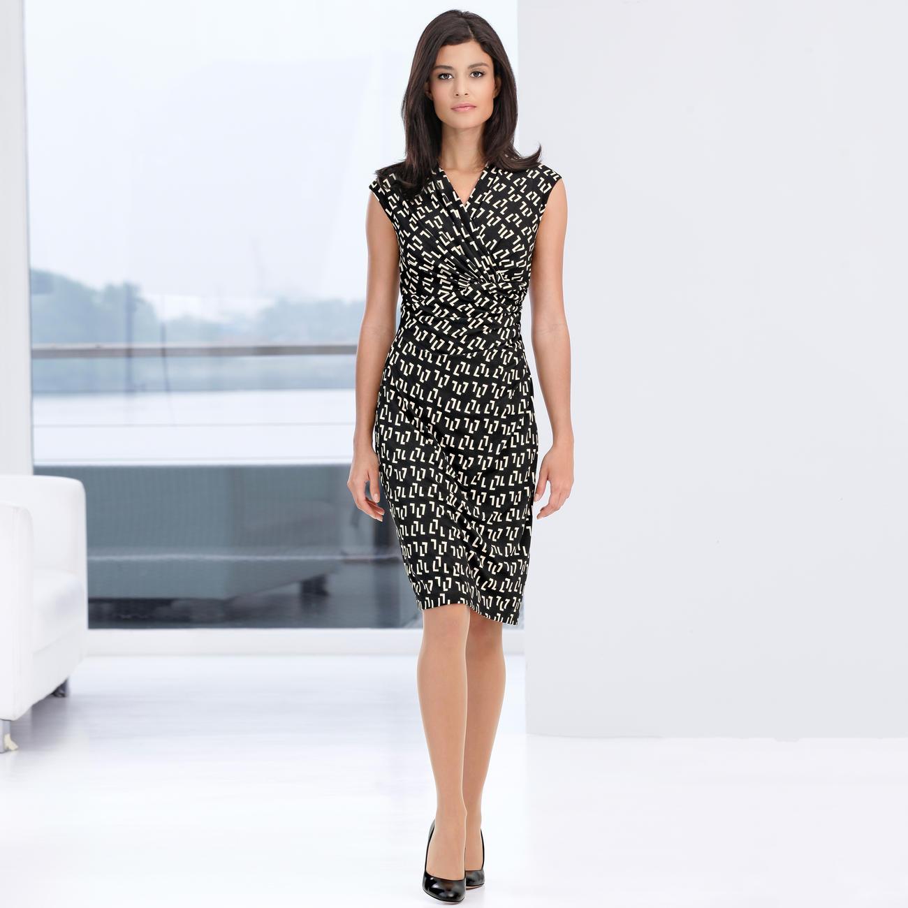 buy barbara schwarzer graphic pattern dress online. Black Bedroom Furniture Sets. Home Design Ideas