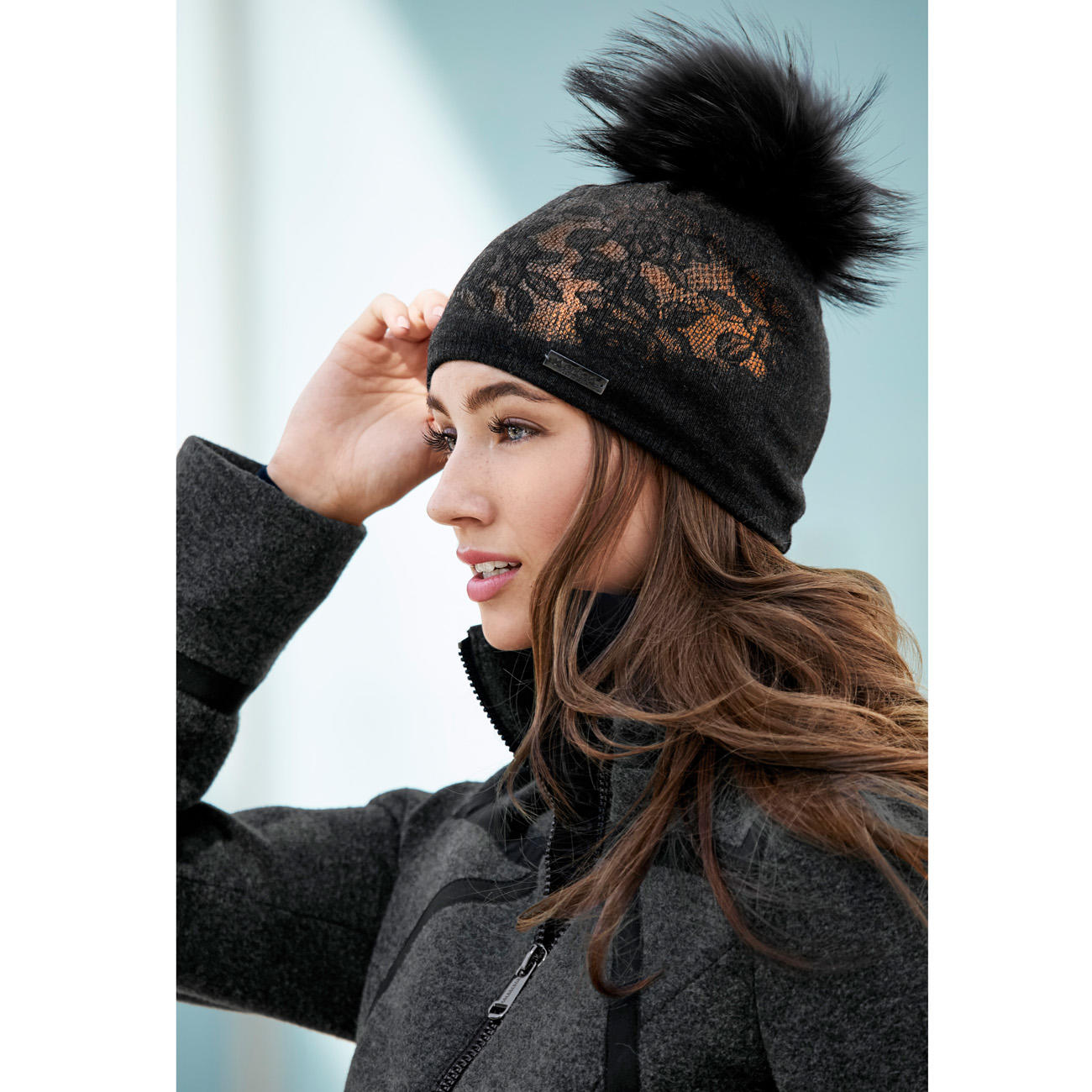 0a950311c4a Norton Lace Bobble Hat | Discover fashion classics