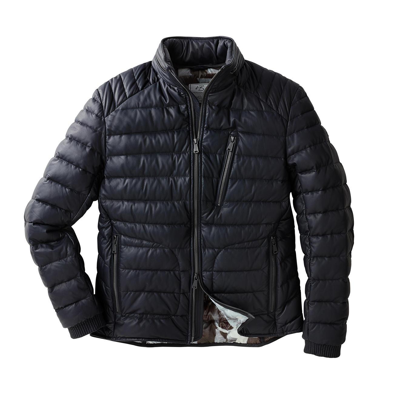heinz bauer manufakt leather down jacket the 670g 23 6. Black Bedroom Furniture Sets. Home Design Ideas