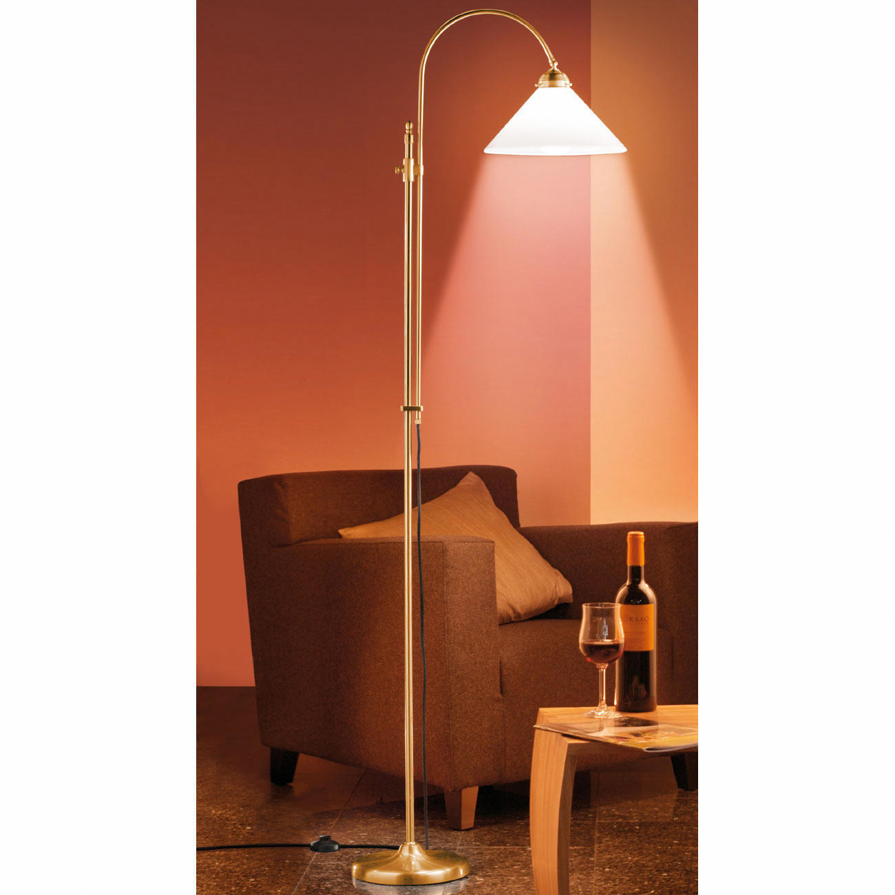 Buy Brass Floor Lamp: Buy Berlin Brass Floor Lamp
