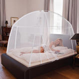 Portable Mosquito Net Foolproof assembly for ideal protection against stinging pests.