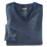 V-Neck Shirt, Grey/Blue