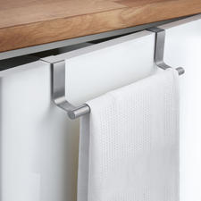 Towel Rail, Set of 2 - Turns every cupboard door into a towel rack. Simply hang it over the door. For the kitchen & bathroom.