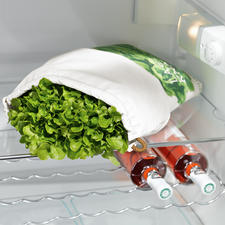 Salad Bag for fresh lettuce - Keeps your salad fresh up to ten times longer.