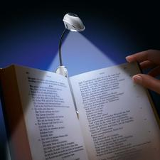BookLight® At last a reading light that lights up both pages simultaneously. Also great for paperbacks.