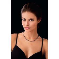 Spinel Necklace Black & Black