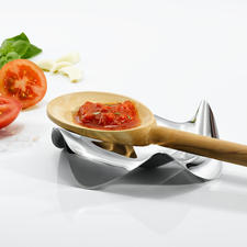 Designer Cooking Spoon Rest by Alessi - Probably the most attractive, functional place to rest your spoons and other utensils. By Alessi.