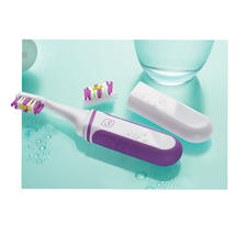 Sonic Travel Toothbrush - Battery-operated and compact. Durable, yet light as a feather.