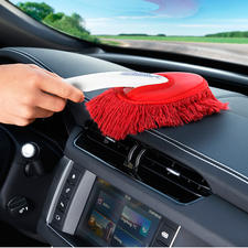 Use the small brush (supplied) to clean the inside of your car.