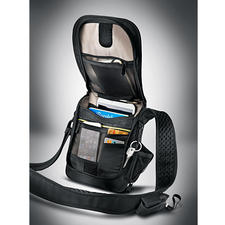 Safety Shoulder Bag - Triple threat for thieves: Slash-proof. RFID protected. With alarm.