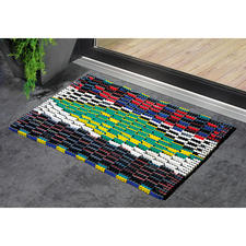 Beach Sandal Doormat - Once created for colourful beach sandals. Now a stylish doormat.