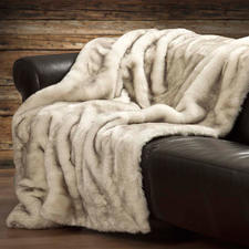 Faux Fur Polar Fox Throw - Silky soft with a luxurious thick pile and subtle colouring – yet surprisingly affordable.