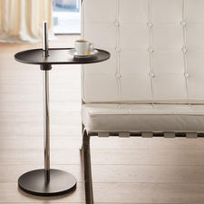 Olivo Side Table - Rotates 360°. Seamless height adjustment. With an ingenious leaf spring mechanism.