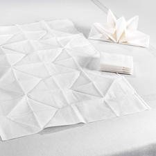 "Instead of the usual 33 x 33cm (11.8insq), these origami serviettes measure a generous 60 x 40cm (23.7"" x 15.7"")."