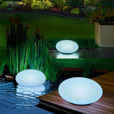 Solar Light Pebbles, 1 piece - The light pebble illuminates your garden in your favourite colour or in changing shades.