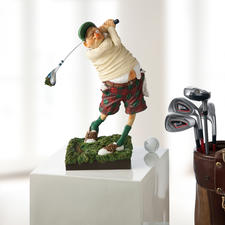 "Forchino Figurine ""Golfer"" - The passion for golf depicted in comical art."
