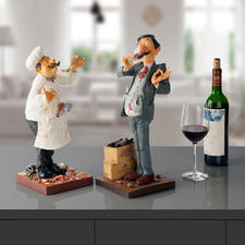 Forchino Figurine The Cook or The Winetaster - Professional life portrayed with a pinch of irony and lovingly captured in an exaggerated manner.