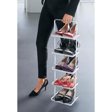Easily move your sneakers, lace-ups, loafers, high heels and men's shoes ... they are kept stable and won't fall off.