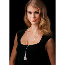Foxtail Chain with tassel - 925 sterling silver. Handmade pendant. Quality made in Germany. Length adjustable.