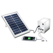 Portable Solar Light and Charger - In the forest, at sea, while camping. Your mobile solar station provides power and light.