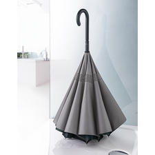 Placed vertically, you can save space while leaving the umbrella to dry in the shower.