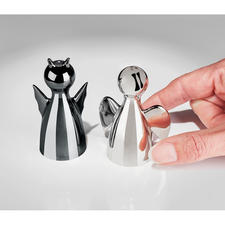 "Salt Shaker ""Angelo"" or Pepper Shaker ""Diabolo"" - Sprinkle the right amount of spice, with a pinch of wit. From German designer Philippi."
