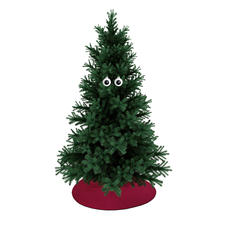 Googly-Eye Baubles, Set of 2 - Now your Christmas tree will watch your every move.