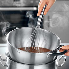 Used over a water bath, the bowl is extremely suitable for melting chocolate.