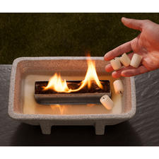 No ash, no soot and yet a romantic fire– with the Schmelzfeuer® XL.