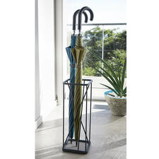 Umbrella Stand, 9 Squares - Modern, geometric design with invisible arrangement.