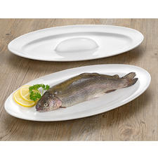 Fish-roast and Serving Pan - Succulently roasted fish: Perfectly browned all over and served with style.