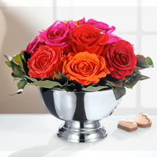 Real Rose Flower Arrangement - You will enjoy this bouquet for a long time.