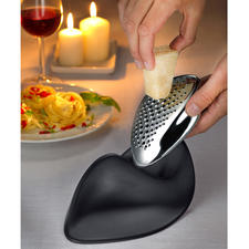 Alessi Design Cheese Grater - In characteristic sculptural form. One of the last designs from the award-winning architect.