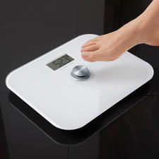 Digital Bathroom Scale without battery - Saves money and bothersome battery replacement. Environmentally friendly. Always works.