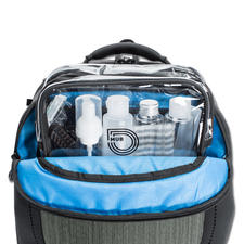 Integrated separate compartment for a wash bag (supplied).