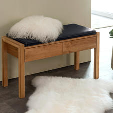 Oak Wood Wardrobe Bench - The oak bench: Now clearly more modern and elegant.