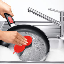 The fine nubs of the sponge remove dirt effectively without leaving scratches or scuff marks.