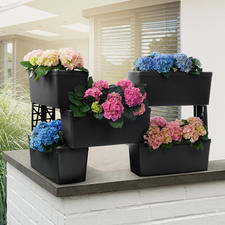 Modular Planter System, Set of 5 - As a garden divider, flowering privacy hedge, a tall herb garden, tiered planter etc.