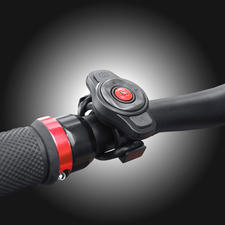 All features can also be controlled via the remote control on the handlebars.