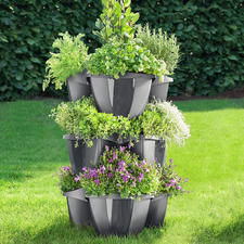 Tiered Plant Tower, 3 elements - Opulent floral splendour in a small space.