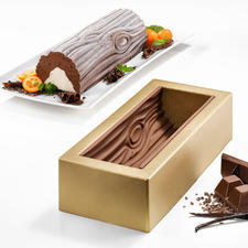 """Silikomart® Baking Mould """"Bûche de Noël"""" - Now you can make the masterpiece of French baking yourself."""