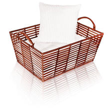 Leather Basket - Stylish, hand-crafted leather baskets – perfect for stowing, storing, transporting.