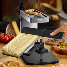 Original Swiss Raclette Swing - Comfortably within reach for everyone: The swivelling classic Swiss raclette.